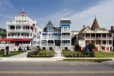 row of colorful homes NJ