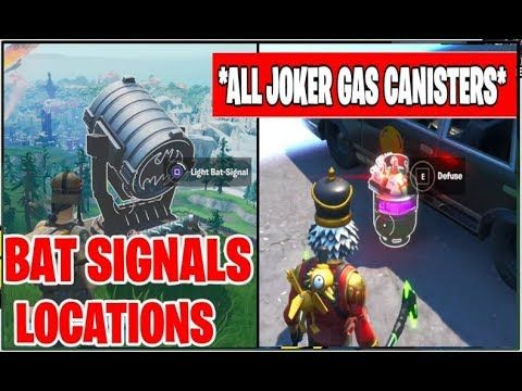 All Joker Gas Canisters Locations All Bat Signals