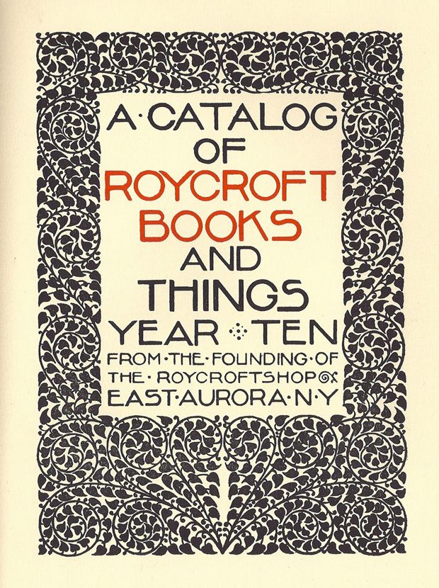 100 ideas that changed graphic design roycroft william for Arts and crafts movement graphic design