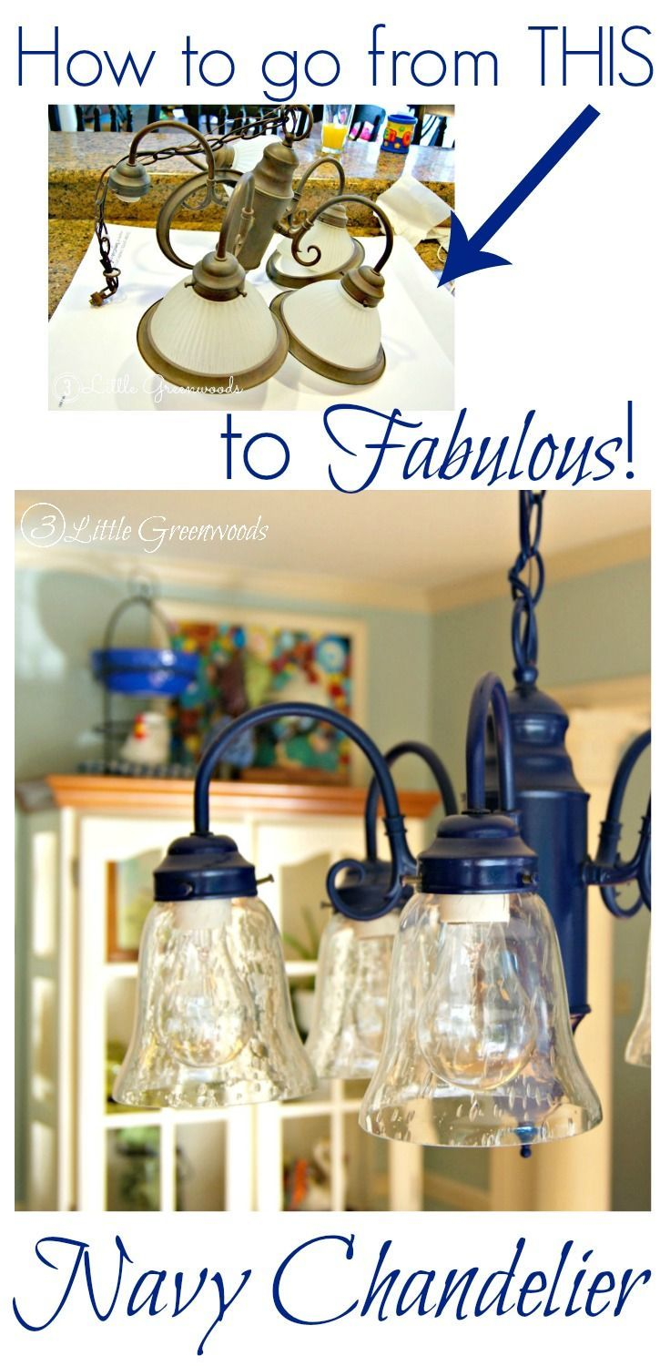 Spray painting a chandelier navy creatividad casero y moderno spray painting a chandelier navy aloadofball Images