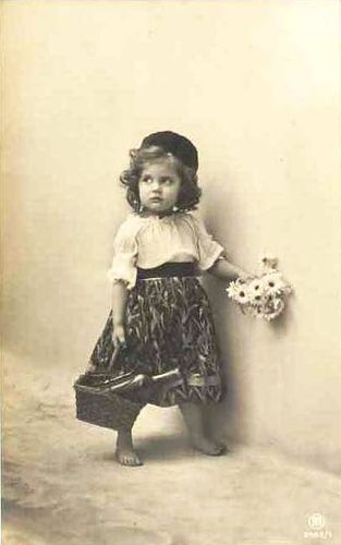 Vintage Postcard ~ Sweet Little Girl