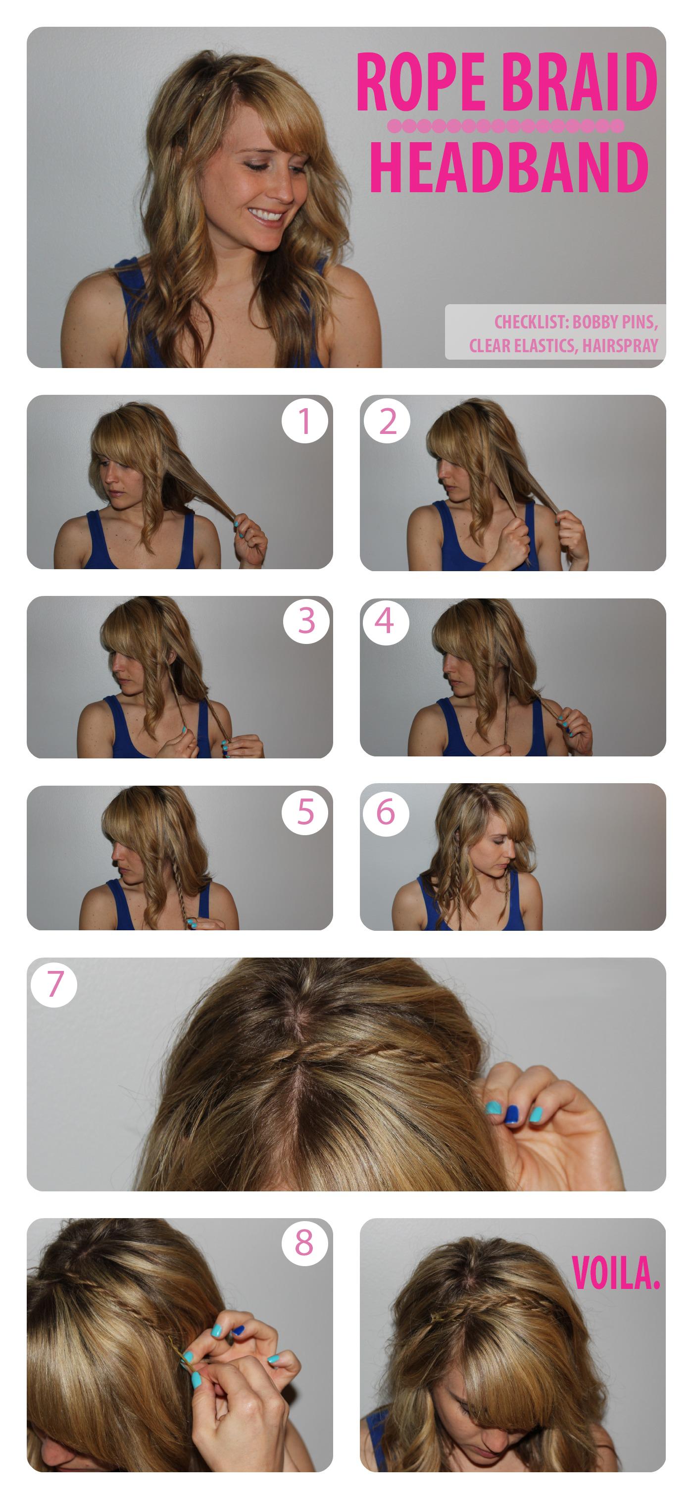 Rope Braid Headband Tutorial