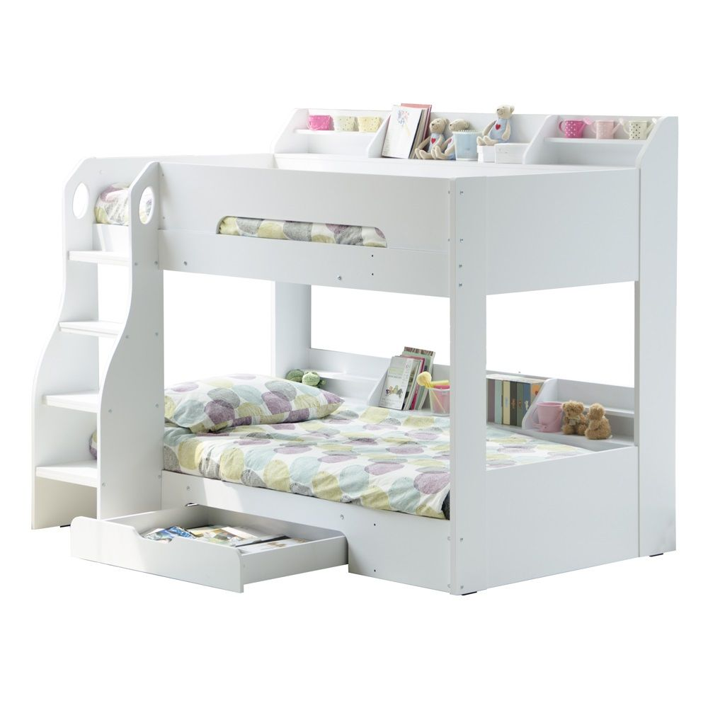 Bed In A Drawer Flick_Girls_White_Bunk_Bed 1000×1000  Ideas For Girls Room