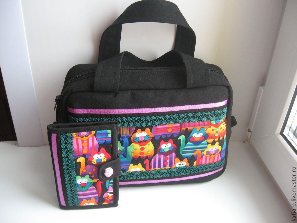 a687d68224f4 Купить Котокомплект рукодельный - рукодельный комплект, котосумка, рукодельная  сумка, органайзер для вышивки,