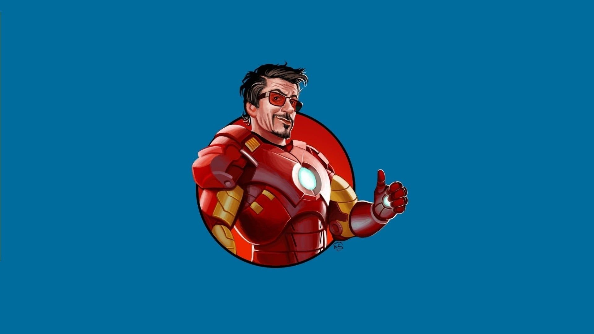 Iron Man Cartoon Wallpaper