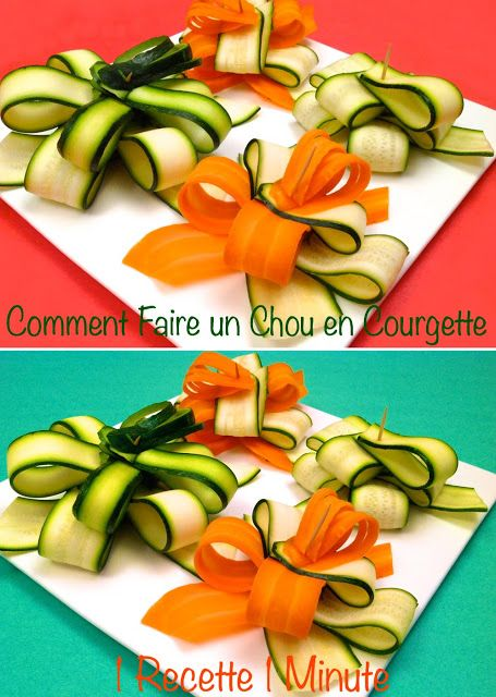 comment faire un chou d 39 emballage cadeau en courgette how to make a gift bow with a zucchini. Black Bedroom Furniture Sets. Home Design Ideas