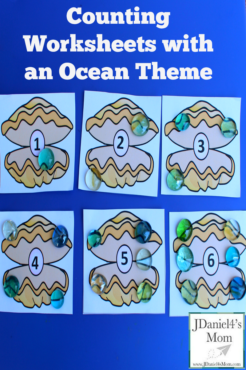 Counting Worksheets with an Ocean Theme | Oceans & Beaches ...