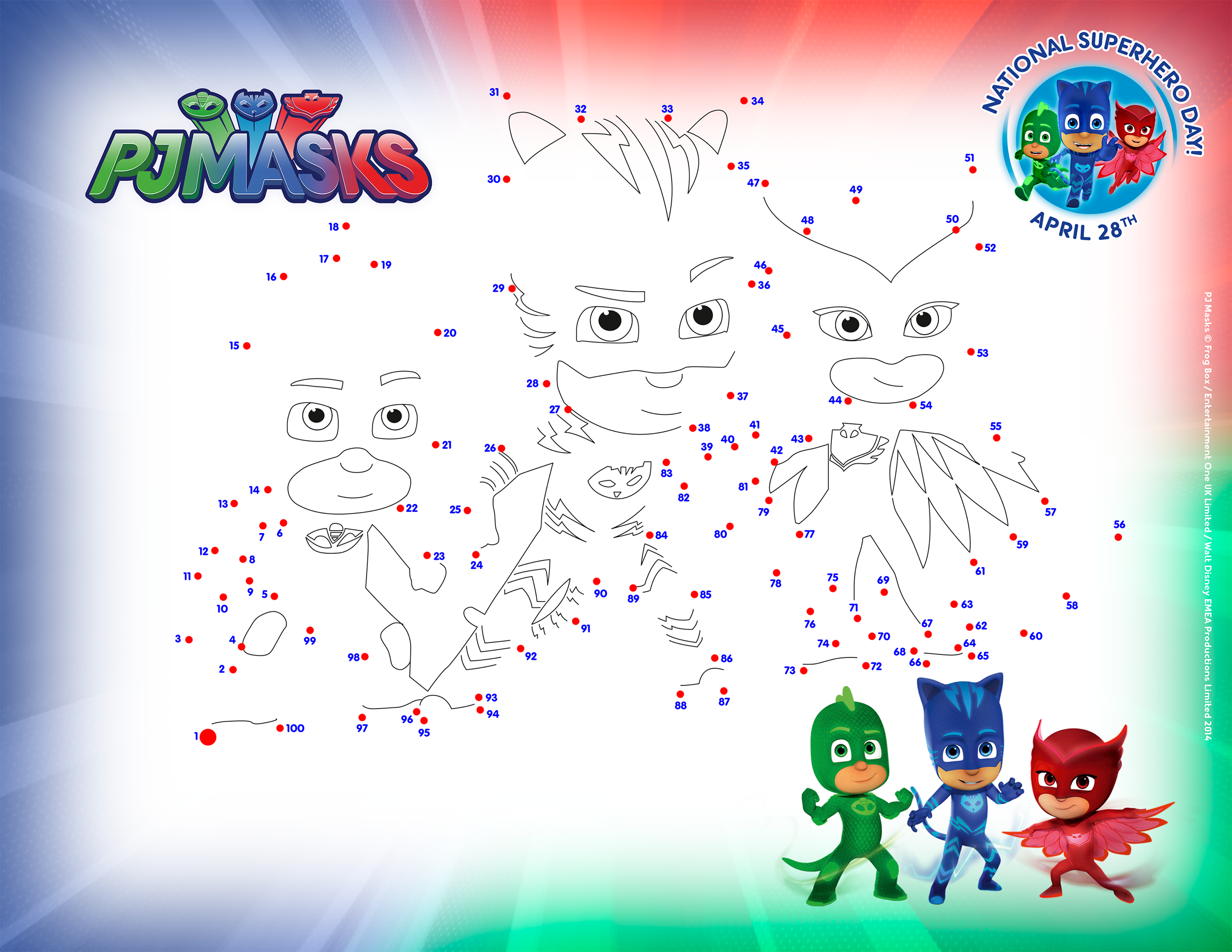 Pj Masks Connect The Dots Activity Page Get Ready For