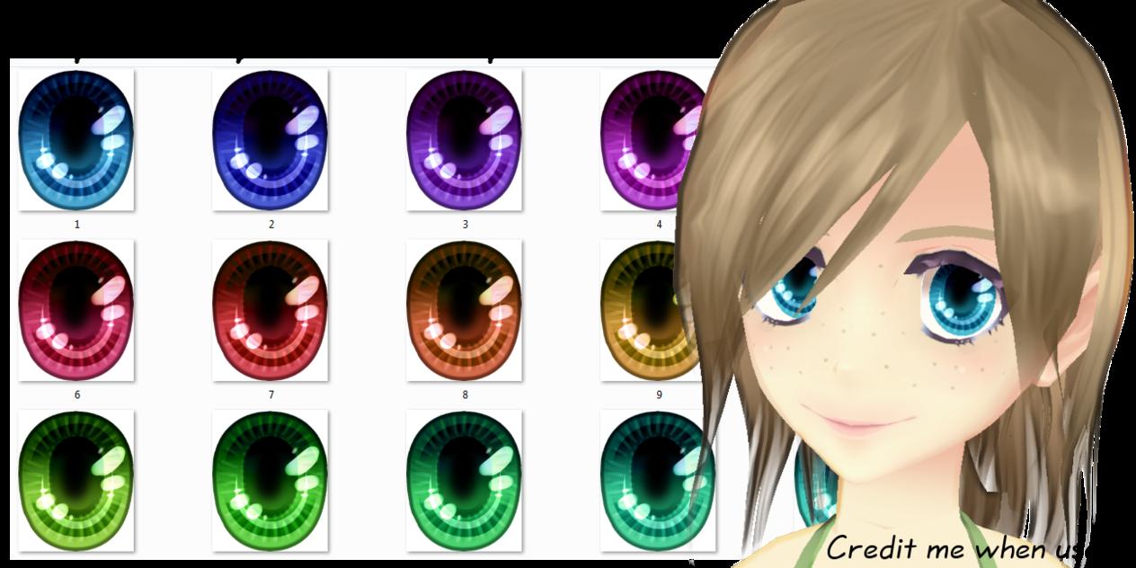 [DOWNLOAD] Luminous Eye texture pack [MMD] by Ziodyyne