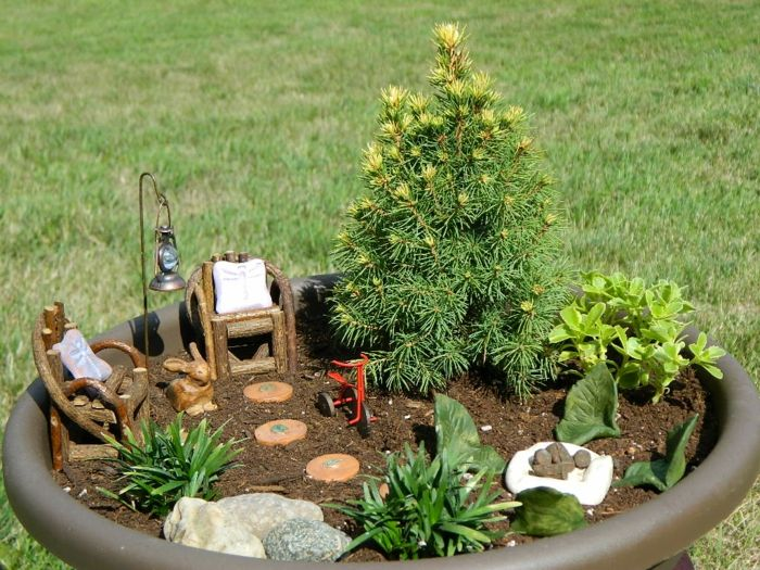 deko bastelideen reizvollen mini garten kreieren mini garden zen garden fairy garden. Black Bedroom Furniture Sets. Home Design Ideas