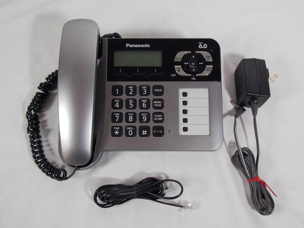 panasonic kx tg1061 dect 6 0 expandable single line corded phone rh pinterest com Operators Manual Owner's Manual