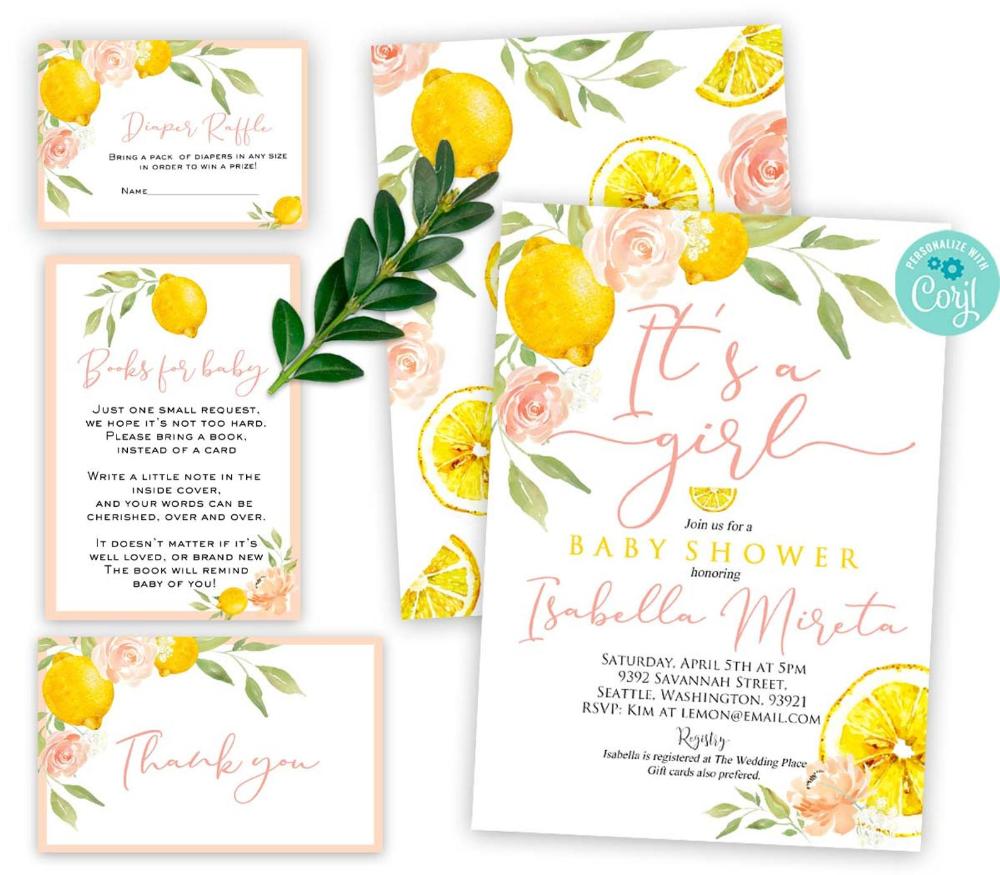 Download 5x7/'/' Citrus Baby Shower Games Printable Lemon Baby Shower Game Bundle Games For Lemonade Baby Shower And Fruit Baby Shower