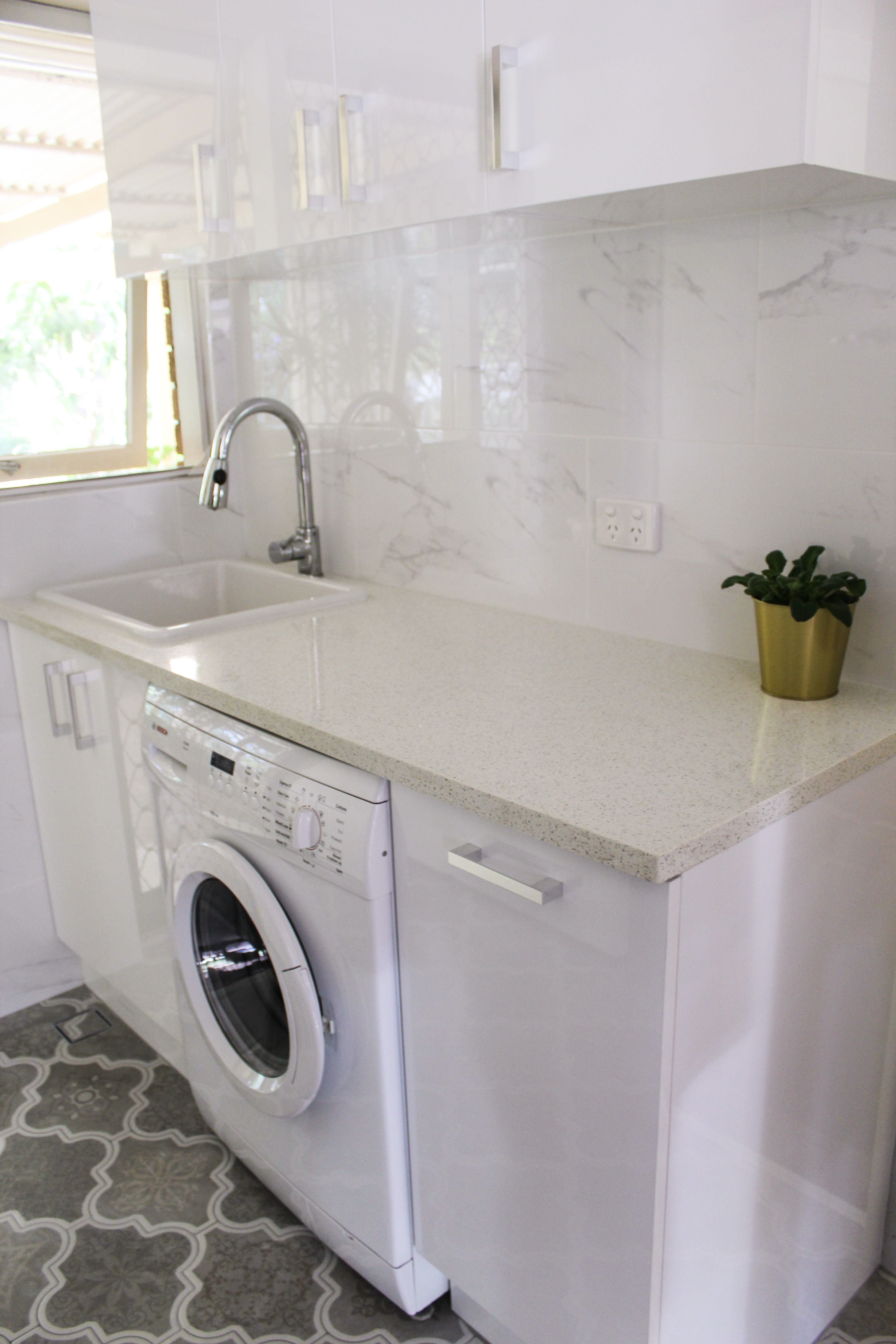 Laundry Ideas - Laundry White - Laundry Cupboards Gloss White ...