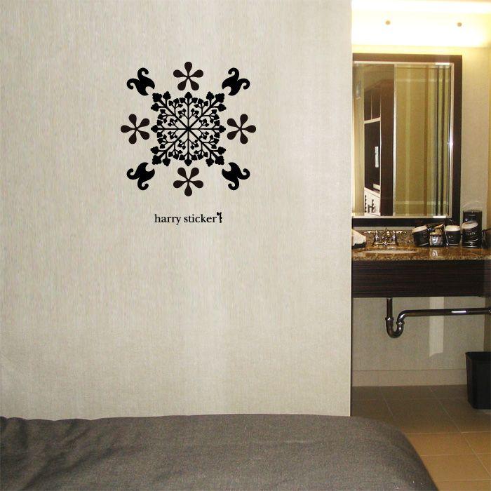 wallsticker Monogram Wallpaper interior Design