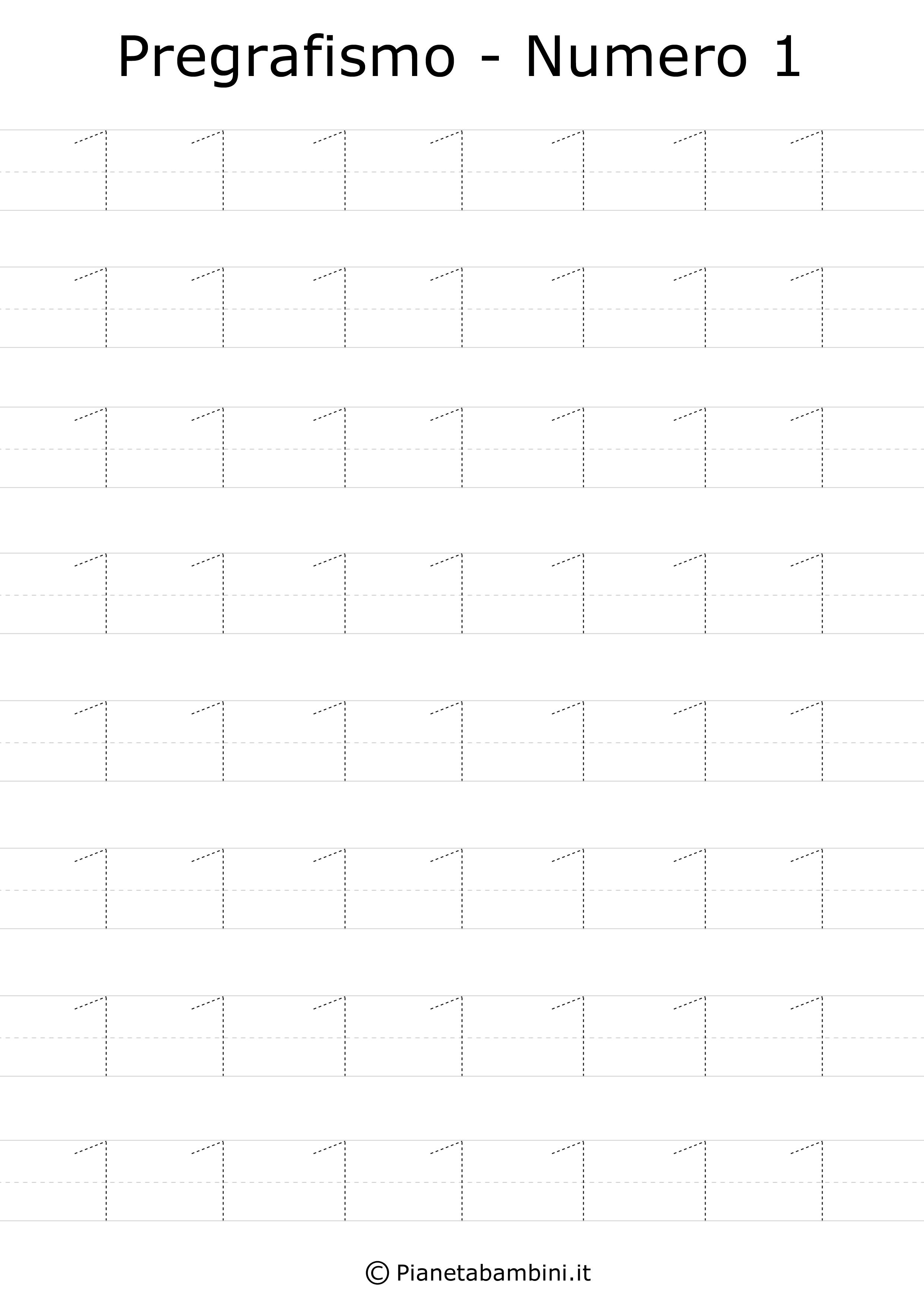 Schede Di Pregrafismo Dei Numeri Da 0 A 9 Da Stampare Numeri