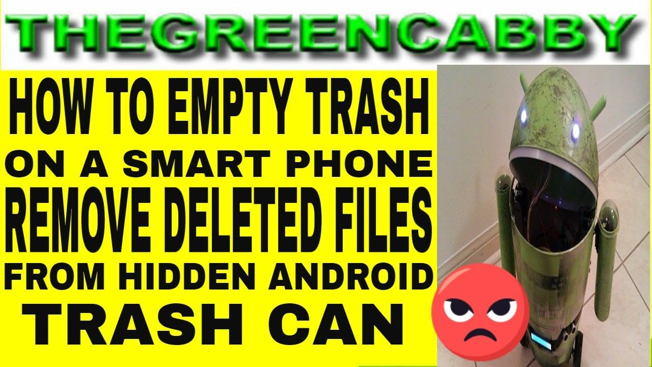 HOW TO EMPTY TRASH ON SMART PHONE - HOW TO REMOVE DELETED