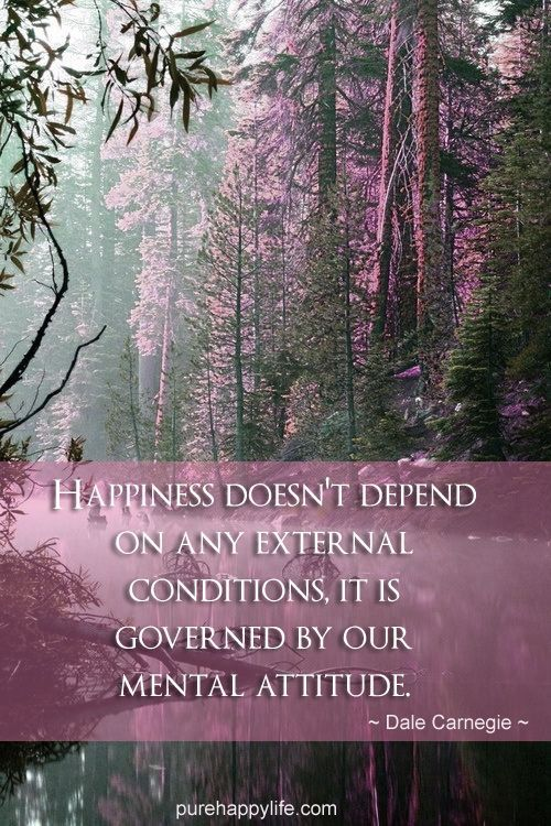 does happiness depend on attitude or on external circumstances Happiness does depend on your decision to be  there's no question happiness is a decision  my happiness come from within not from external circumstances.