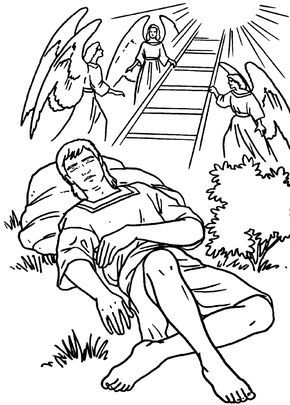 Jacob And The Stairway To Heaven Bible Coloring Page Sunday School Coloring Pages Bible Coloring Pages School Coloring Pages