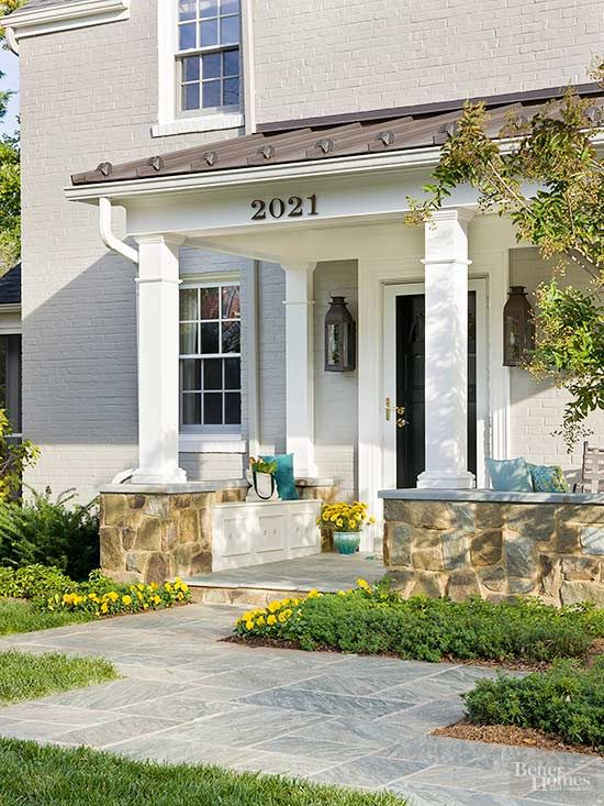 8 stylish ideas for a small front porch ideas porches for Front porch patio designs