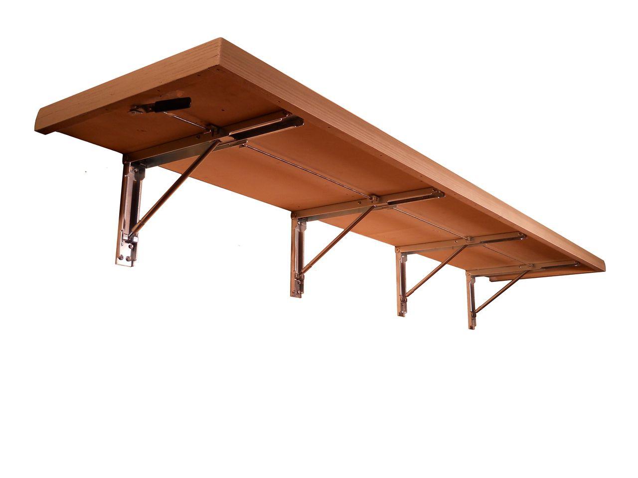 Fold Up Shelf Amarine Made Polished Stainless Steel Folding Shelf Bench Table