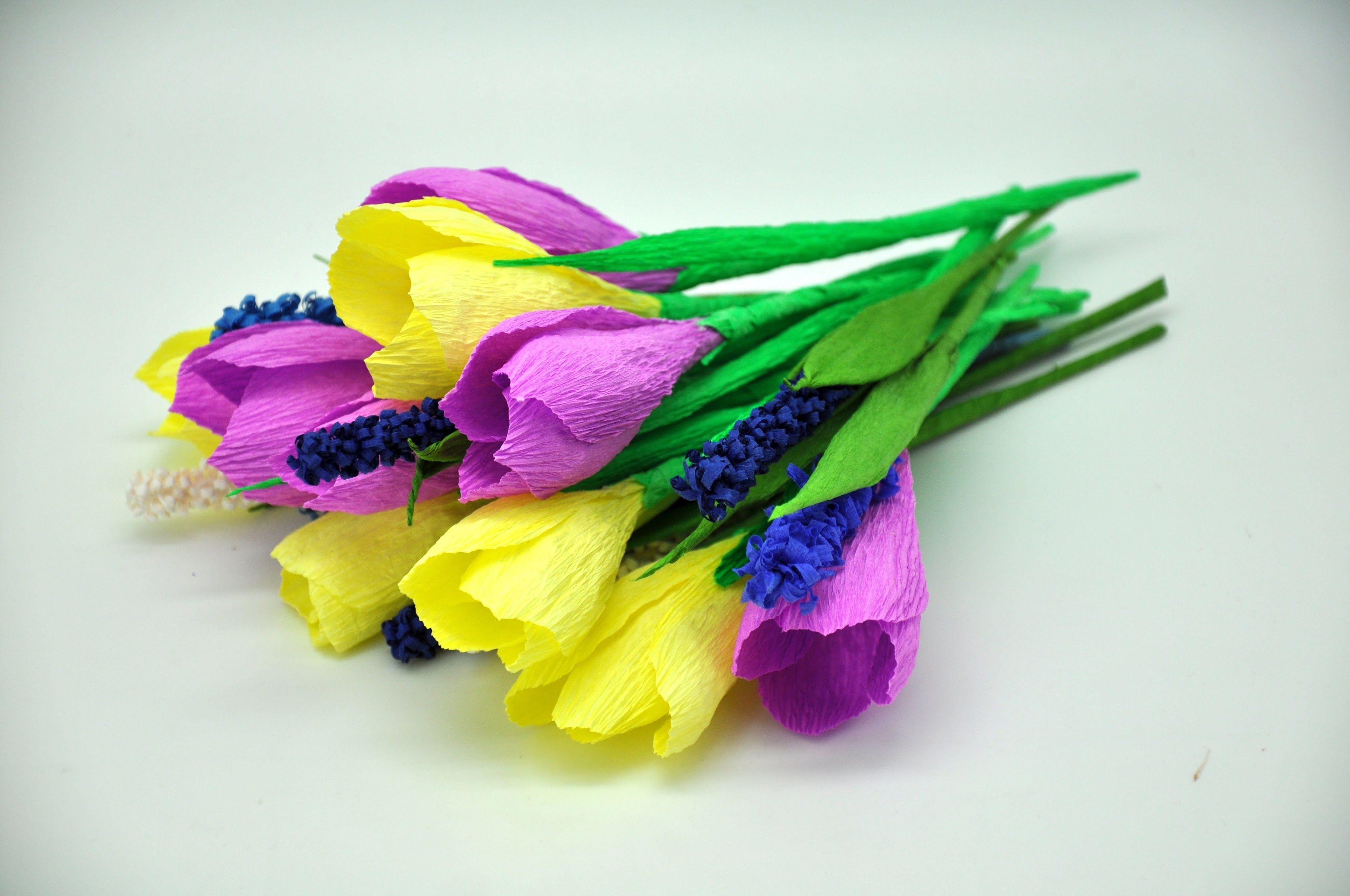 Jak Zrobic Krokusy Z Bibuly How To Make Crepe Crocuses Diy Diy Flowers Crepe Paper How To Make Crepe