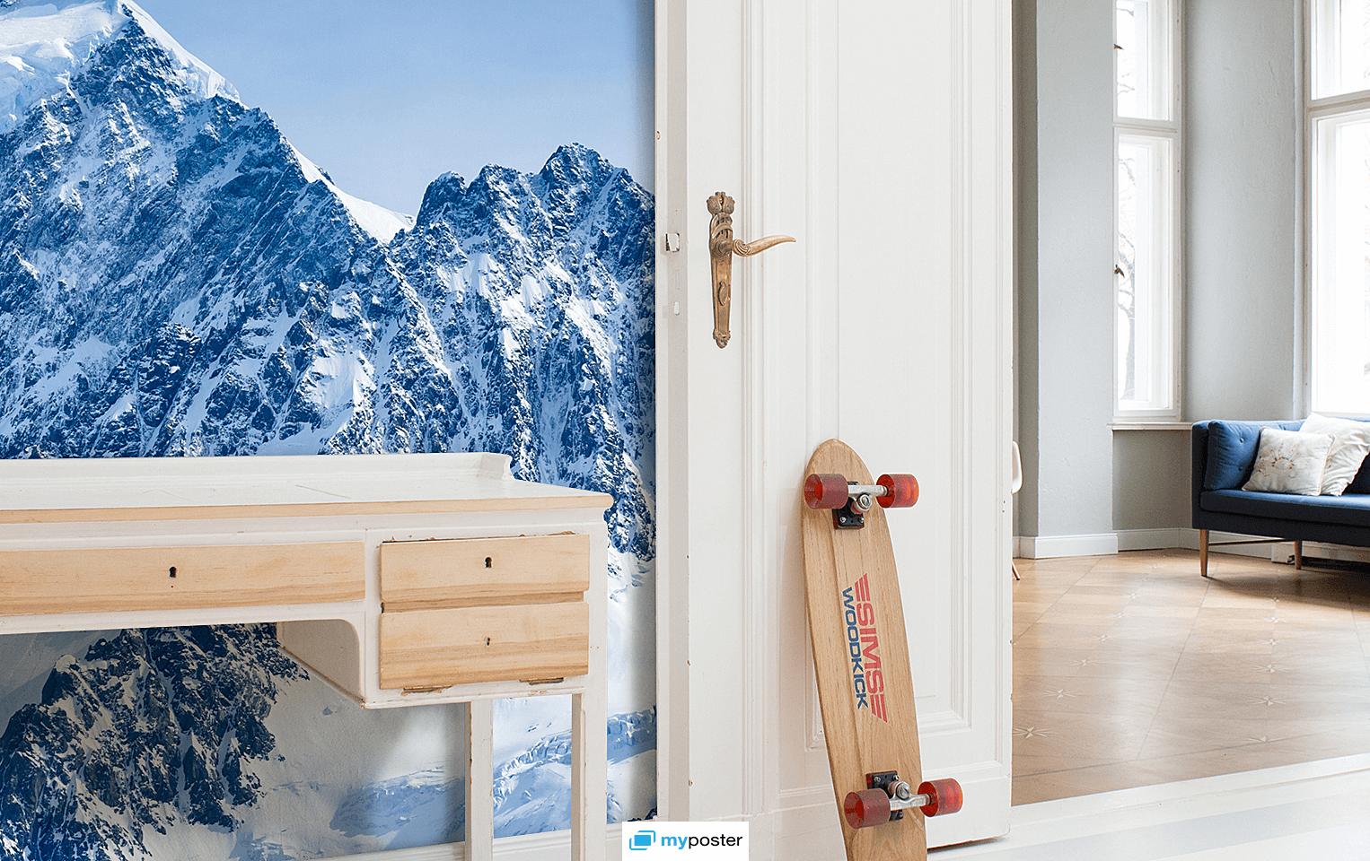 Beeindruckend Fototapete Mit Eigenem Bild Dekoration Von Einmal In Den Bergen Wohnen ❤ Macht