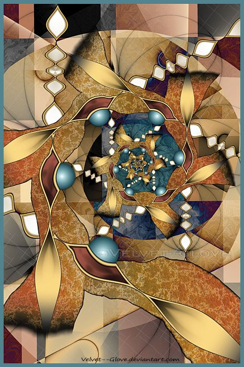 Crafted entirely within Ultra Fractal 5.04 using 18 layers. More of my Fractal Flower series can be seen in my gallery here: Link If you should add this deviation to your faves please accept my tha...