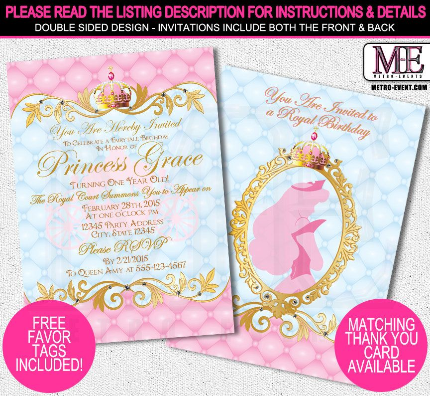 Etsy Product | Disney princess invitations, Princess party ...