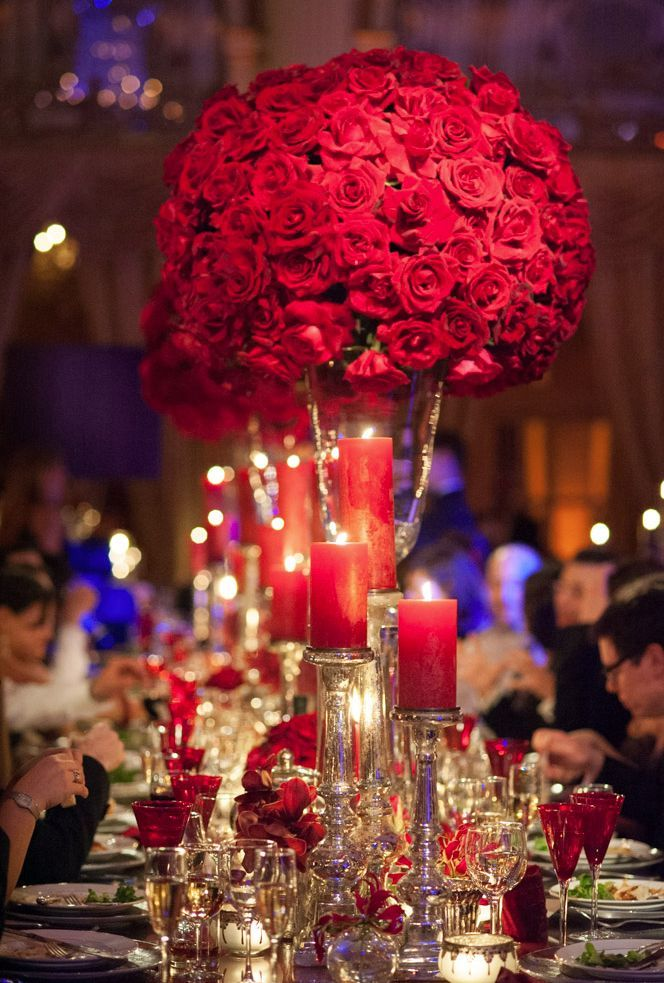 37 Sparkling Ideas for Red Themed Wedding Romantic Red wedding