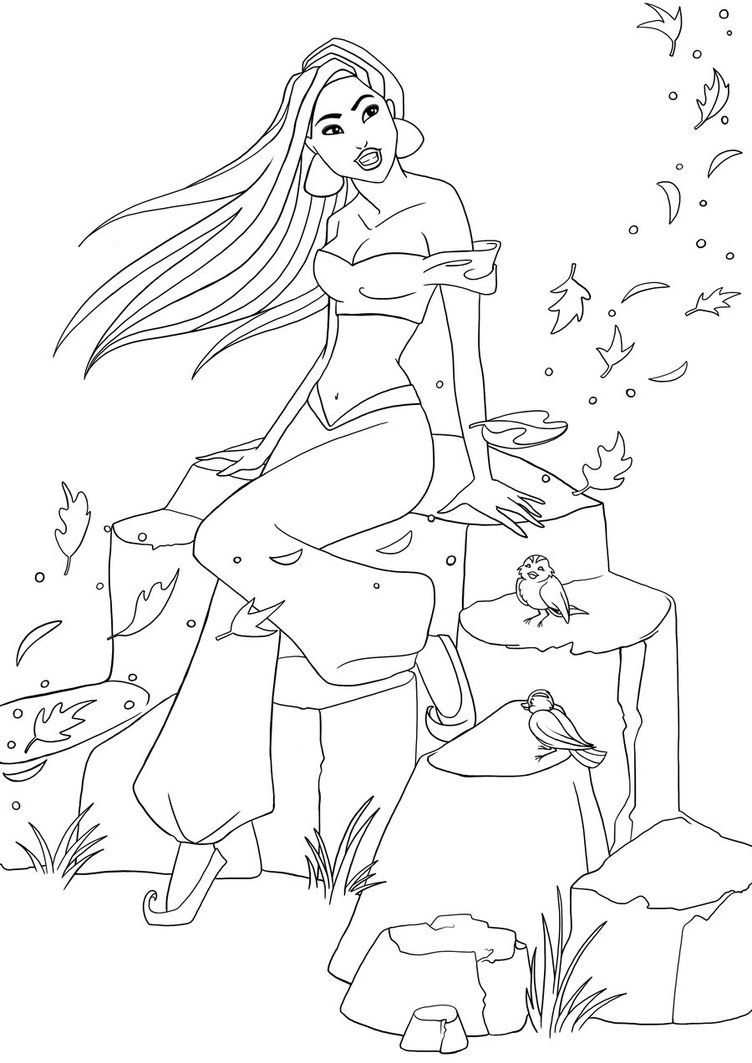 Pocahontas as Jasmine I - Lineart by Paola-Tosca on DeviantArt   art ...