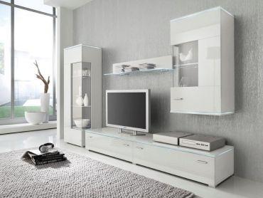Beautiful White Gloss Wall Cabinet