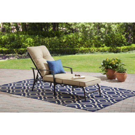 Mainstays Forest Hills Outdoor Chaise Lounge Espresso Frame Walmart Com Clearance Patio Furniture Pool Patio Furniture Outdoor Chaise Lounge Chair