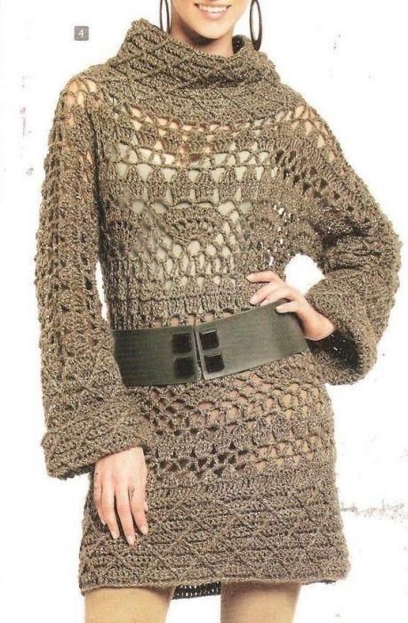 Receitas de Crochet: Magnifico pulover de crochet