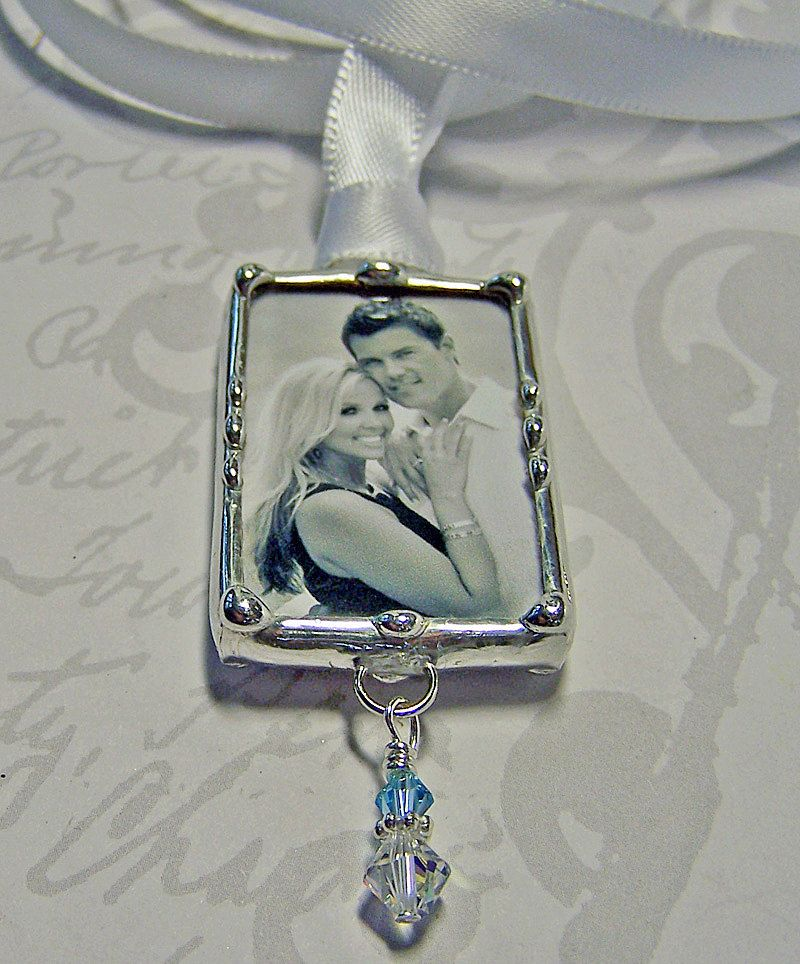 Wedding Memorial Charm Bouquet Charm Personalized Photo Pendant