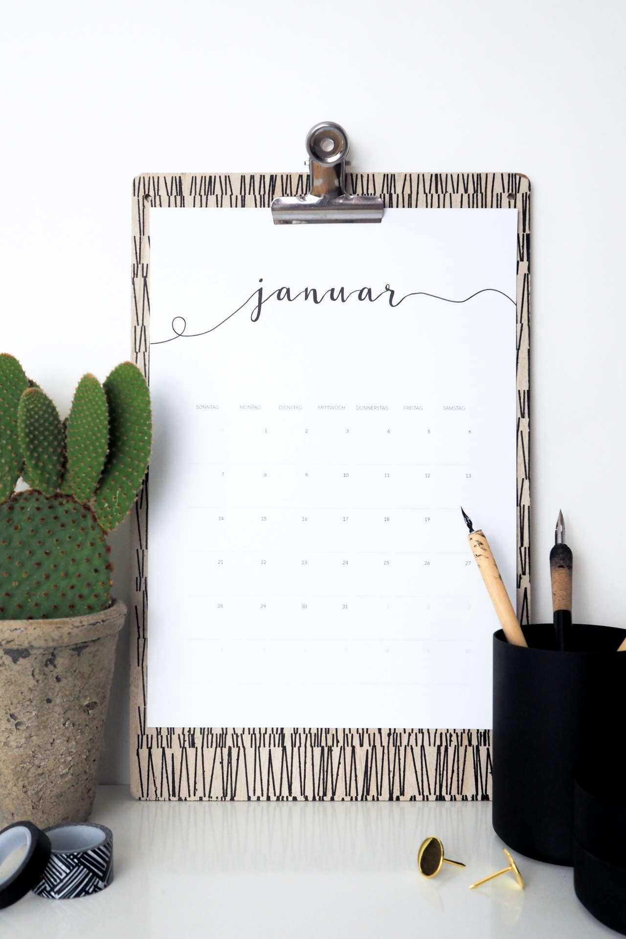 freebie kalender 2018 als kostenloses printables d e s. Black Bedroom Furniture Sets. Home Design Ideas