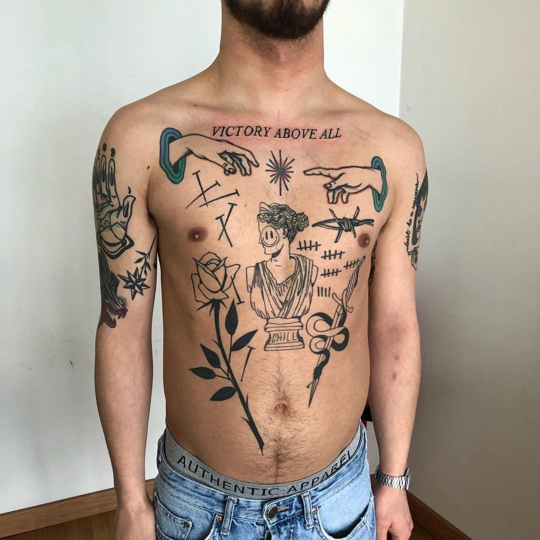Jose Mendonca Small Chest Tattoos Purple Tattoos Chest Tattoo Flowers