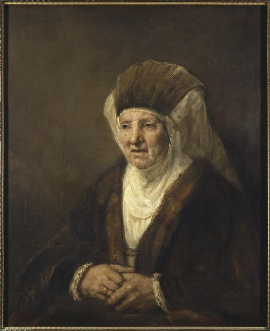 Portrait of an old lady by Rembrandt Harmensz. van Rijn, 1655. Nationalmuseum Sweden, CC BY-SA