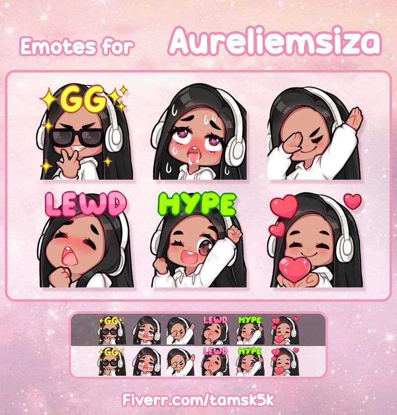 I will draw custom emotes for your twitch in 2020 facial