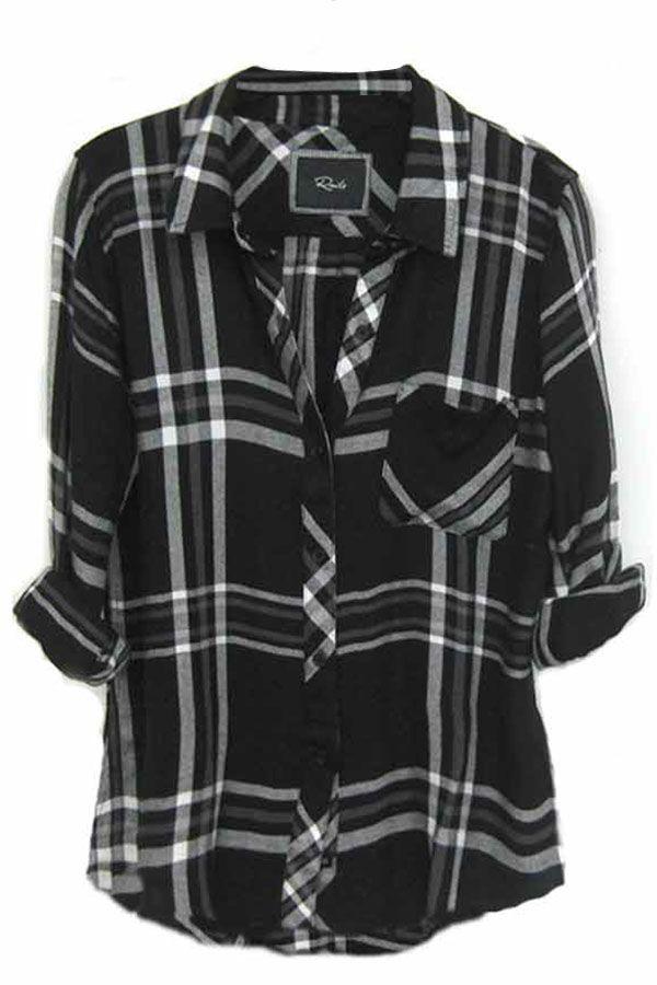 3d35828d77c Rails Hunter Plaid Shirt in Black White Gray