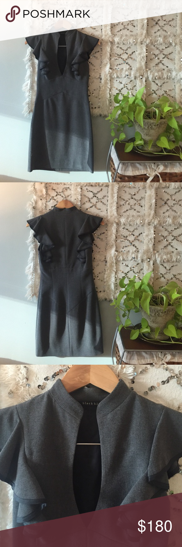 Black Halo Designer Dress Black Halo Designer Dress.  Fits a true size 0 and would be doable for a 00 but meant to fit snug! Black Halo Dresses