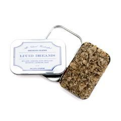 The ritual of smoking has existed throughout history for a variety of uses, including recreational, ceremonial, spiritual and medicinal. This organic herbal blend contains mullein, hops, damiana, mugwort, sage, skullcap and lavender, to support tranquility and encourage dreaming. Lucid Dreams contains absolutely no synthetic ingredients, provides a gentle alternative to tobacco and is intended for responsible, recreational use.