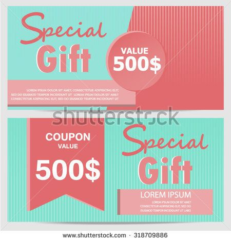 Gift Certificate Voucher Template Enchanting Gift Voucher Certificate Coupon Template Cute And Modern Style .