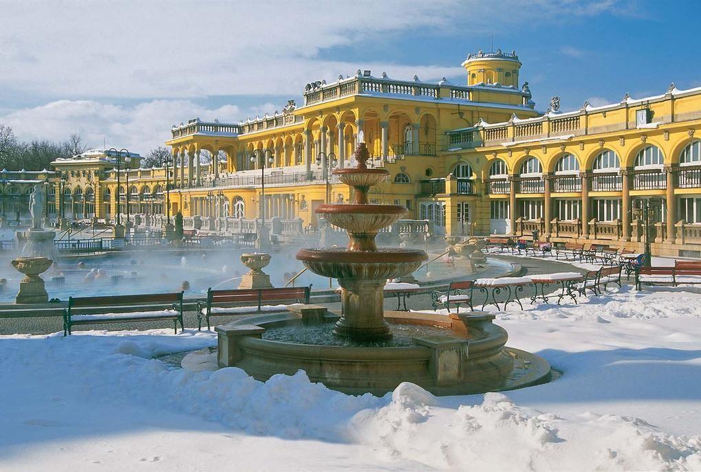 Купальни в Будапеште зимой