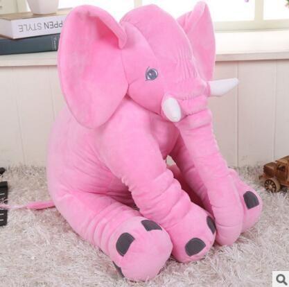 Elephant Pillow Chair Pet Para Bebe Napper Lumbar Long Nose Child Baby Animal Plush Soft Elephant Cushion Baby Blue Red Pink - 60cm / 1