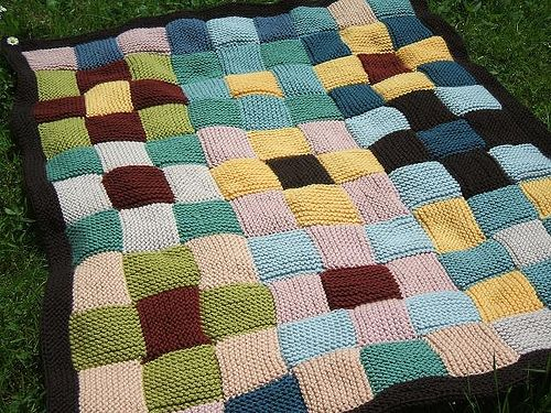 patchwork knit blanket- I'm attempting my own..it is slow going ... : patchwork quilt knitting pattern - Adamdwight.com