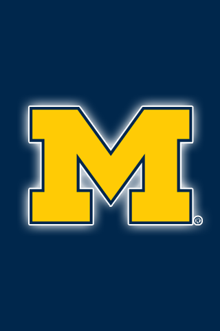 Get A Set Of 12 Officially Ncaa Licensed Michigan Wolverines Iphone Wallpapers Sized For Any Model Of Ip Michigan Go Blue Michigan Wolverines Michigan Football