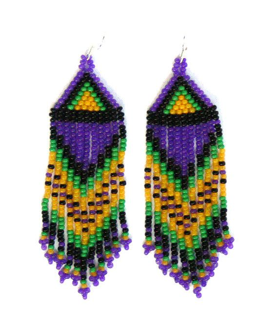 Native American Beaded Earrings inspired. by EudoraStyle on Etsy, $31.00