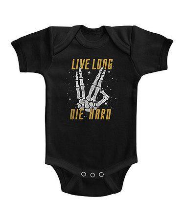 Black 'Live Long Die Hard' Bodysuit - Infant #zulily #zulilyfinds