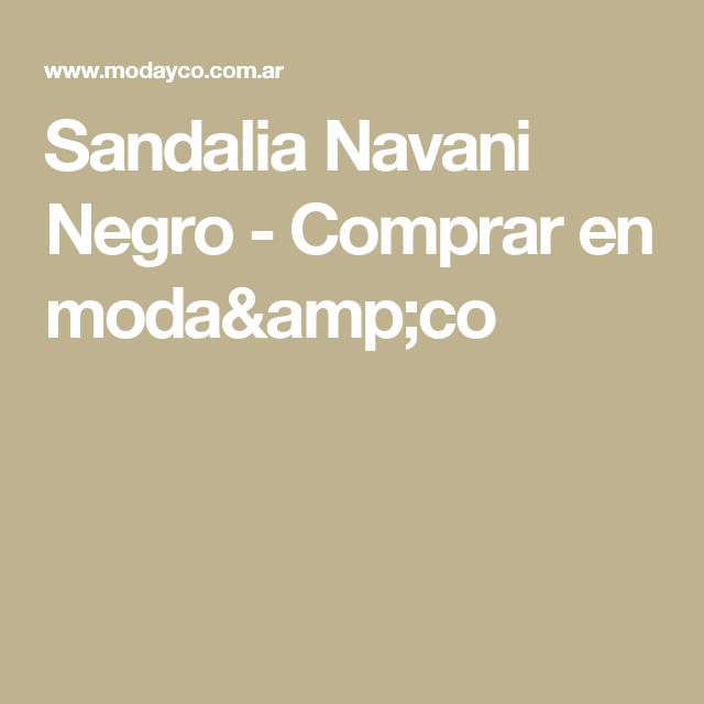 Sandalia Navani Negro - Comprar en moda&co
