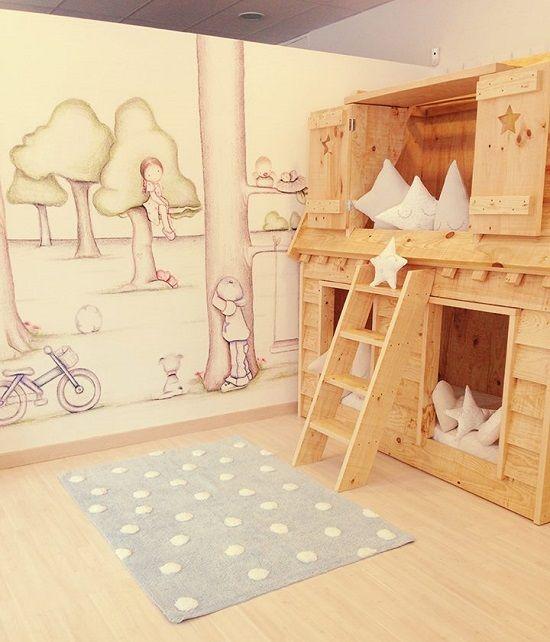 Cama casita for Casita de madera ikea
